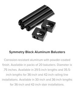 Fiberon Symmetry Aluminum Balusters