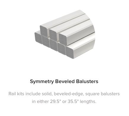 FIberon Symmetry Beveled Balusters