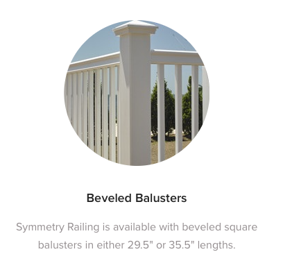 Fiberon Symmetry Railing Beveled Balusters