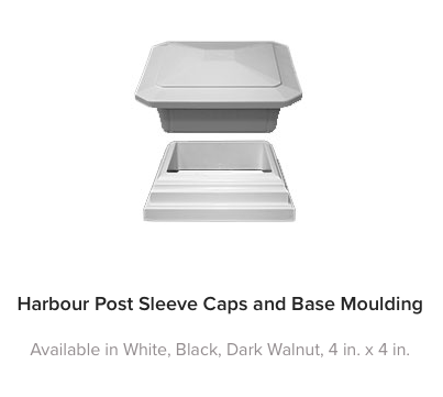 Fiberon Horizon Post Cap and Base