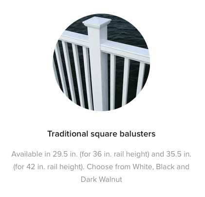 Fiberon Horizon Traditional Square Balusters