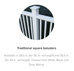 Fiberon Horizon Traditional Square Balusters