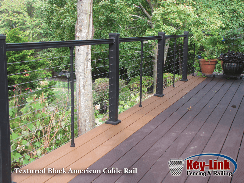 Key Link Textured Black American Cable Rail