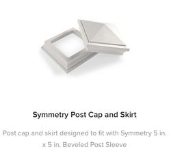 Fiberon Symmetry Railing Post Cap and Skirt
