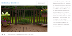 Fiberon Horizon Railing Dark Walnut