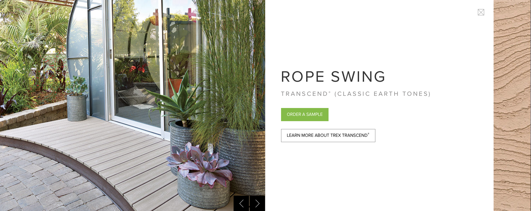 Trex Transcend (Classic Earth Tones) Rope Swing