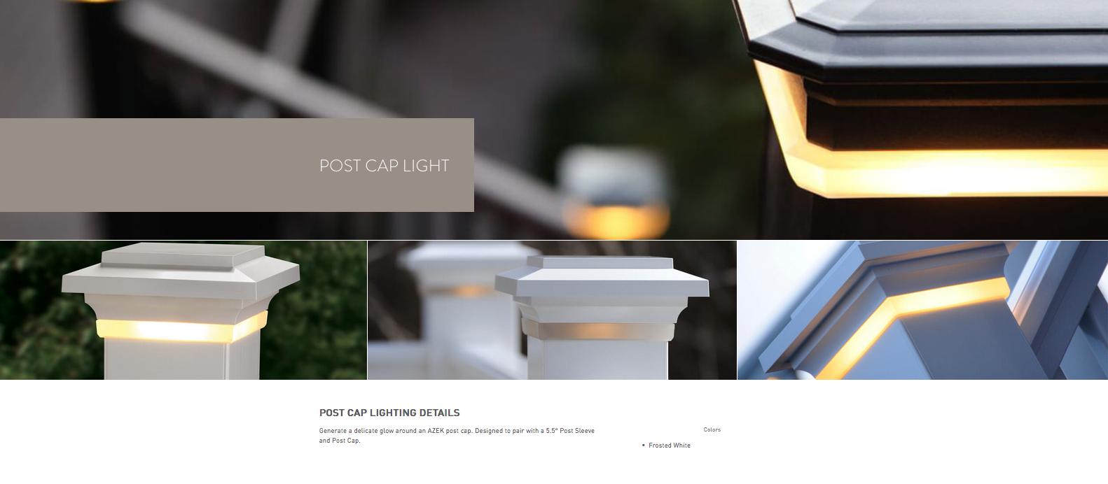 Azek Post Cap Light