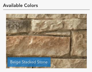Beige Stacked Stone