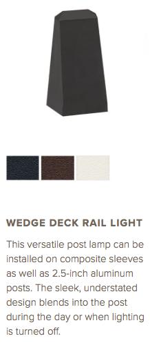Trex Wedge Deck Rail Light