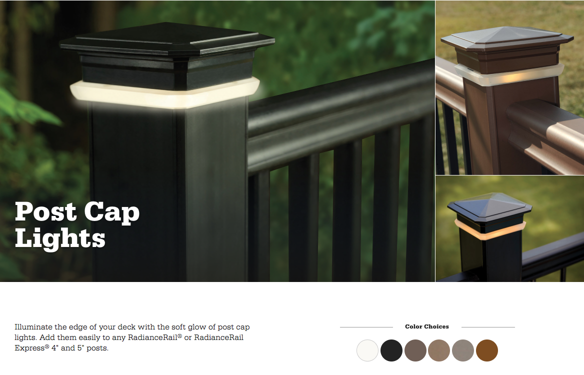 TimberTech Azek Post Cap Light