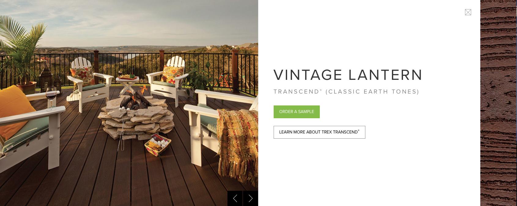 Trex Transcend (Classic Earth Tones) Vintage Lantern