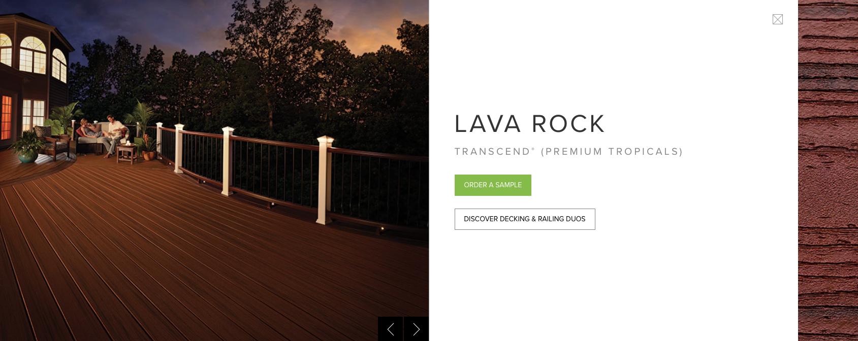 Trex Transcend (Premium Tropicals) Lava Rock