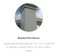 Fiberon Horizon Post Sleeve