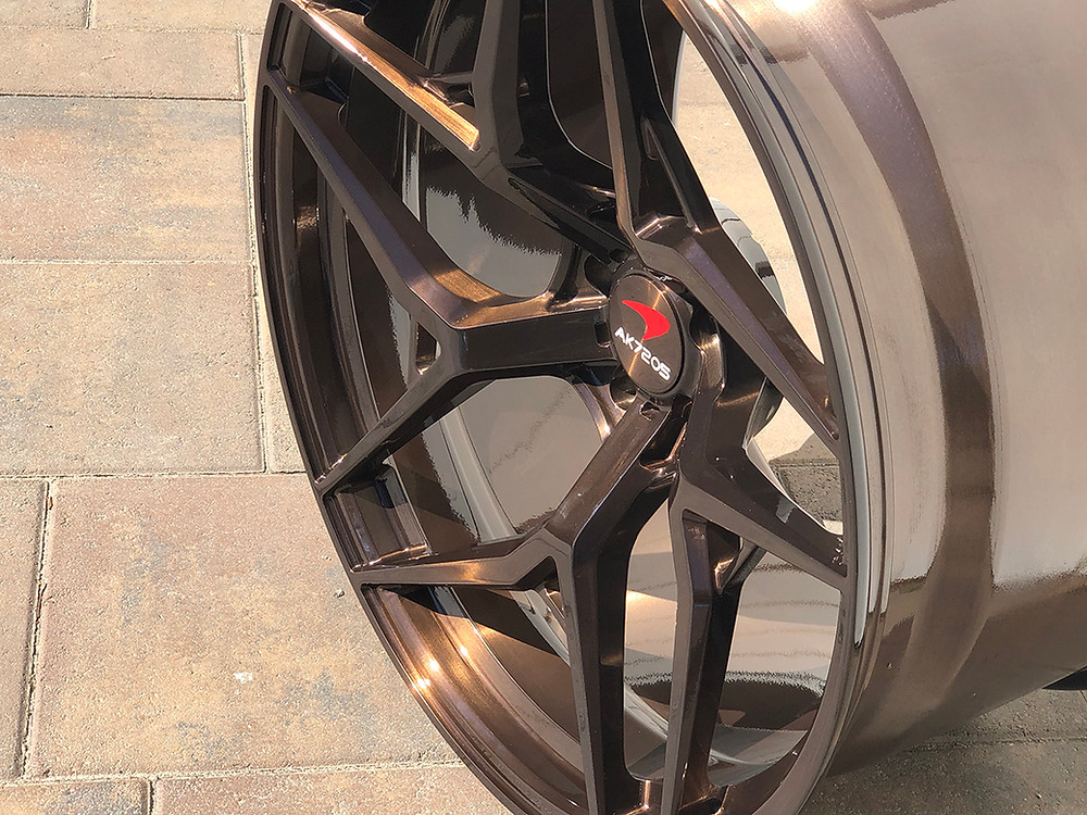 dark bronze concave wheel