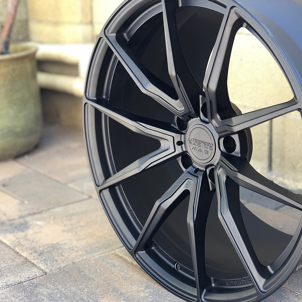 satin black forged magnesium VS10 wheel