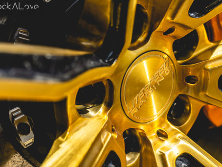 One of a kind forged carbon McLaren wheel!