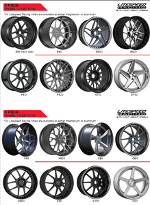 catalog of 3 piece forged wheels by Litespeed Racing