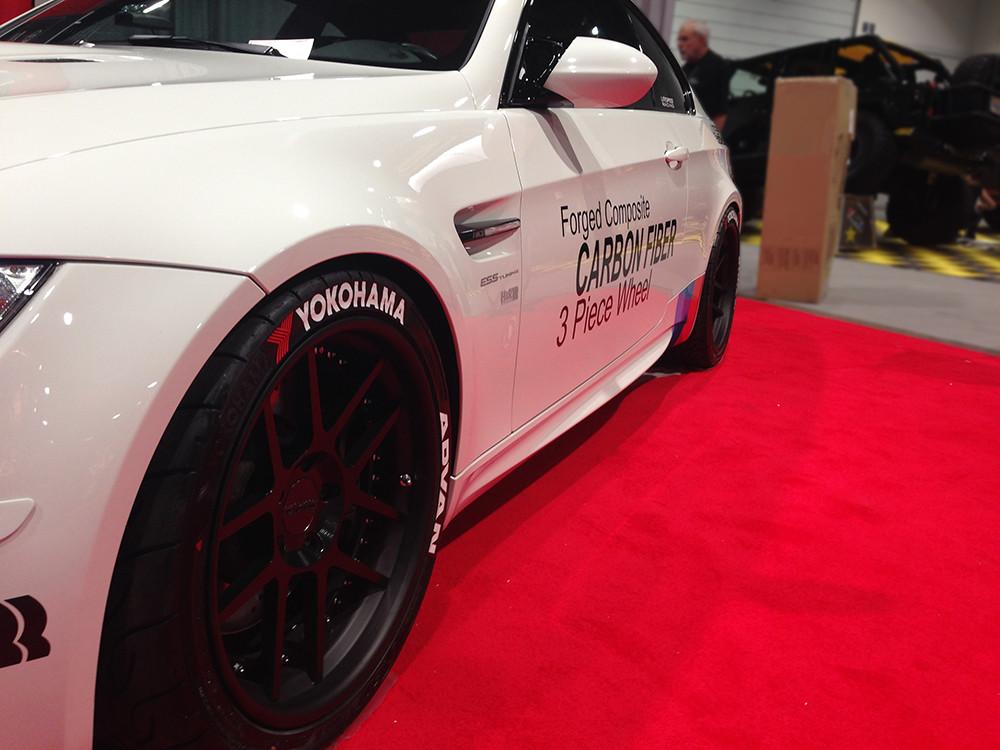 19 inch carbon fiber 3 piece wheels for bmw m3