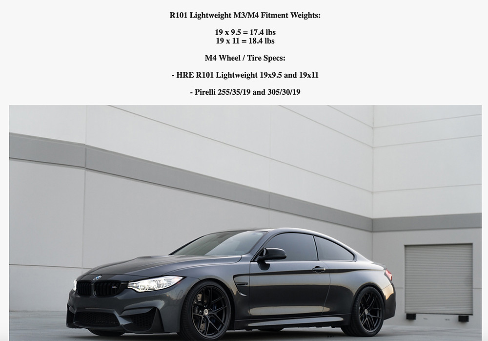 bmw m4 with here r101lw