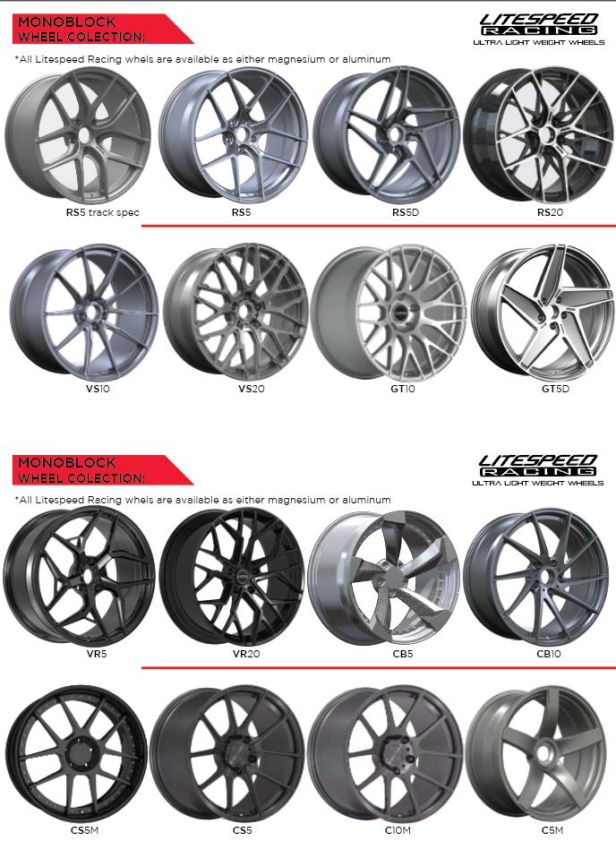 catalog of Litespeed Racing lightweight wheels