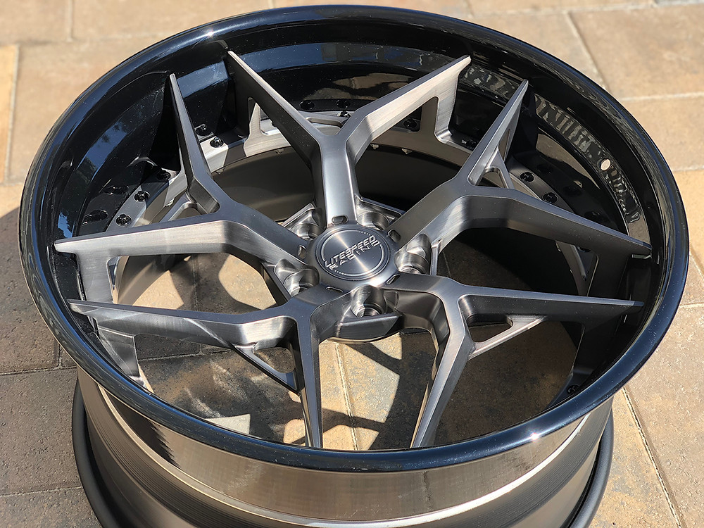 titanium 3 piece wheel