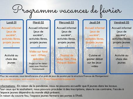 Programme vacances hiver