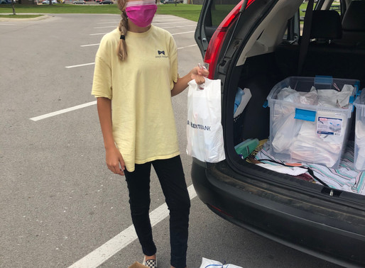 Burk Bags Distributed to Families in Need