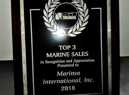 Oil States Industries recognizes Marinsa International as Top #3 distributor for marine sales