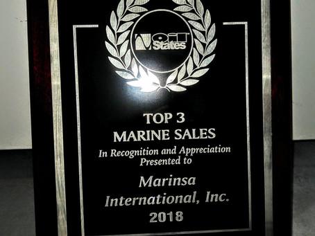 Marinsa as Top #3 distributor for marine sales / Marinsa como Top #3 de distribuidores de ventas