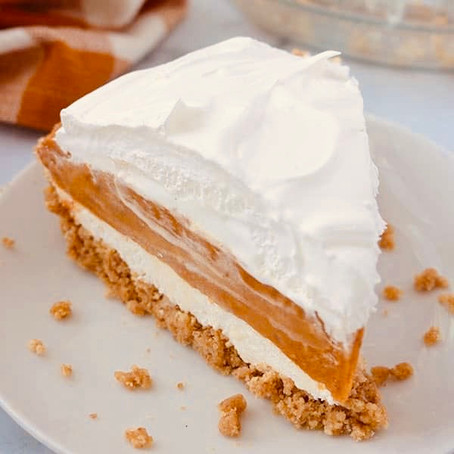 No-Bake 3 Layer Pumpkin Pie