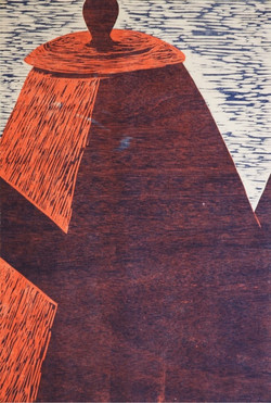 Site 1988 relief woodcut