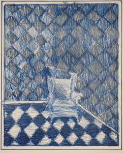 Mary's Chair - Blue 1981 lithograph