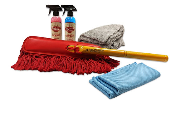 Golden Shine Wipe and Shine Deluxe Detailing Kit with Original Car Duster 49978K
