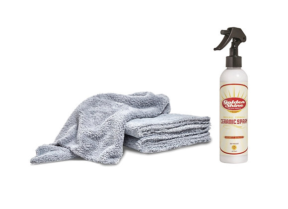 Ceramic Spray Detailing Kit with Premium Microfiber Towels 14008K