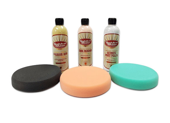 Golden Shine 3-Step Paint Correction and Protection Kit with Pads 41979K