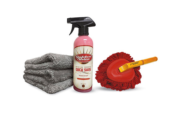 Golden Shine Quick Detailing Motorcycle Kit with Mini Duster