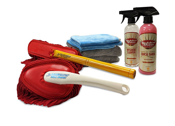 Golden Shine Inside Out Detailing Kit with California Car Duster Combo
