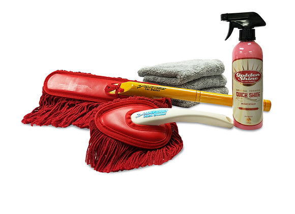 Golden Shine Quick Detailing Kit with California Car Duster Combo 19053K