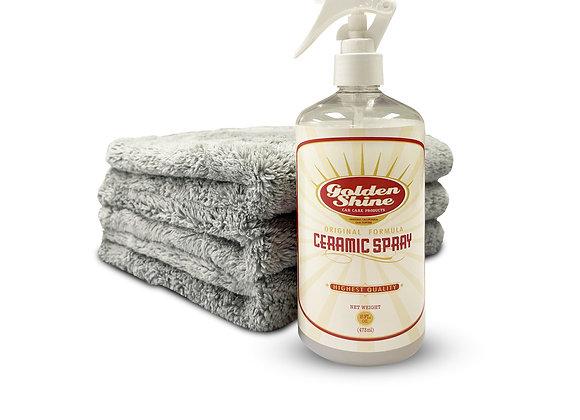 Ceramic Spray Detailing Kit with Premium Microfiber Towels 14941K