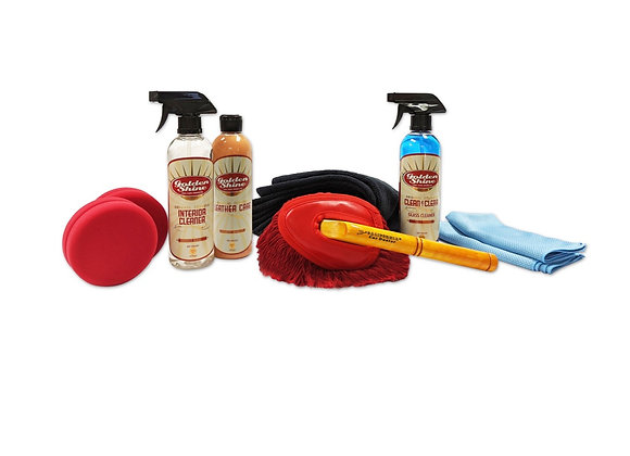Golden Shine Ultimate Interior Detailing Kit with Mini Duster 41979K