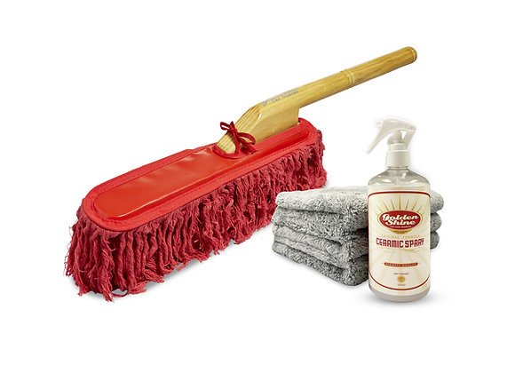 California Car Duster Ceramic Maintainer Kit with Ceramic Spray and Towels