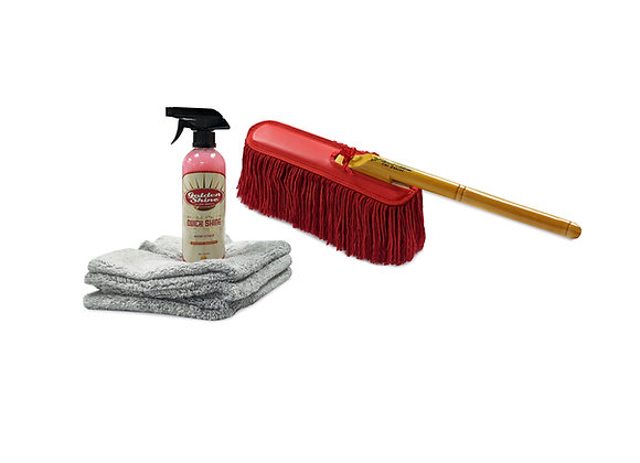 Golden Shine Pro Maintainer Kit with California Car Duster and Quick Shine 10946