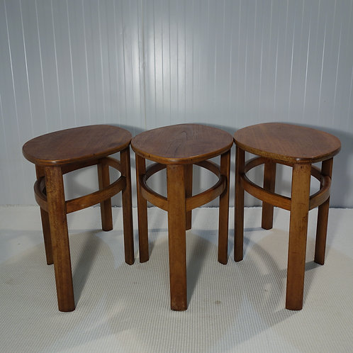 nathan, nathan nest of tables, 1960s nathan, mid century nest of tables, vintage nest of tables, three small tables,