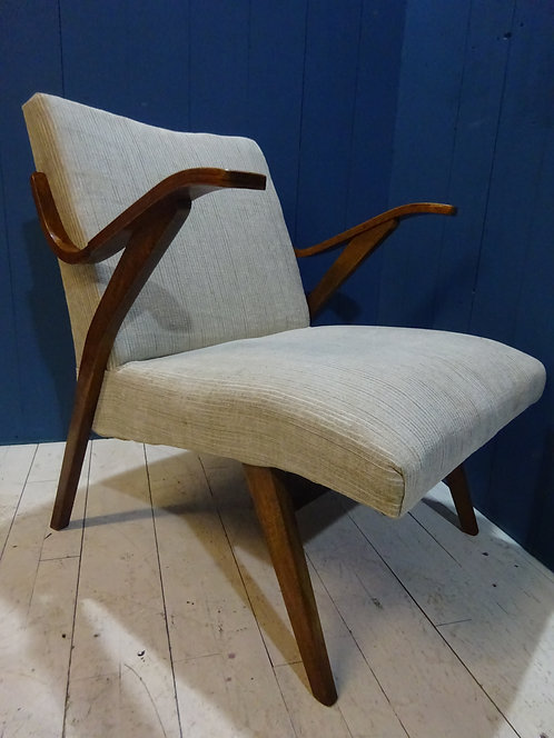 1960's lounge chairs, matching pair, stunning pair, vintage chairs, restored, reupholstered, mid century chairs, mcm,