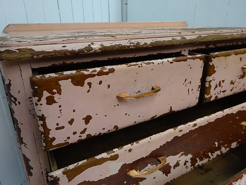pretty in pink, chest of drawers, chippy paint, painted furniture, victorian chest, drawers, pine, antique chest, painted