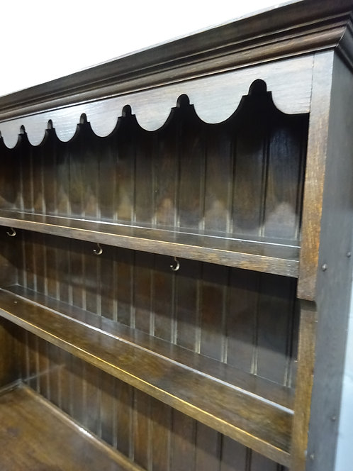oak, welsh dresser, handmade, plate rack, solid oak, cupboard, late victorian, edwardian, storage, room, kitchen cupboards, d