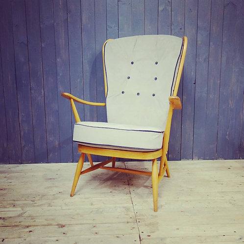 Ercol Mid Century Evergreen Blonde Armchair