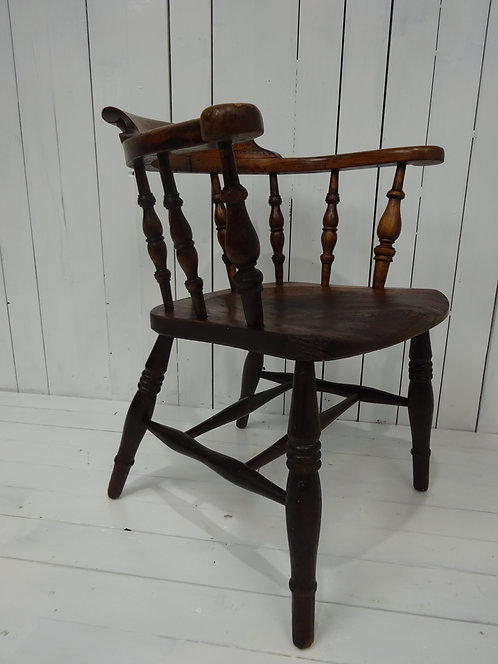 elm chair, desk chair, captains desk chair, stunning, patina, spindles, hand made, antique furniture website, Victorian chair
