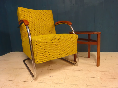 mucke, cantilever, bauhaus, designer chair, original, eclectic, texture, bright, wooden, chair, 1930's, special, rare, mcm
