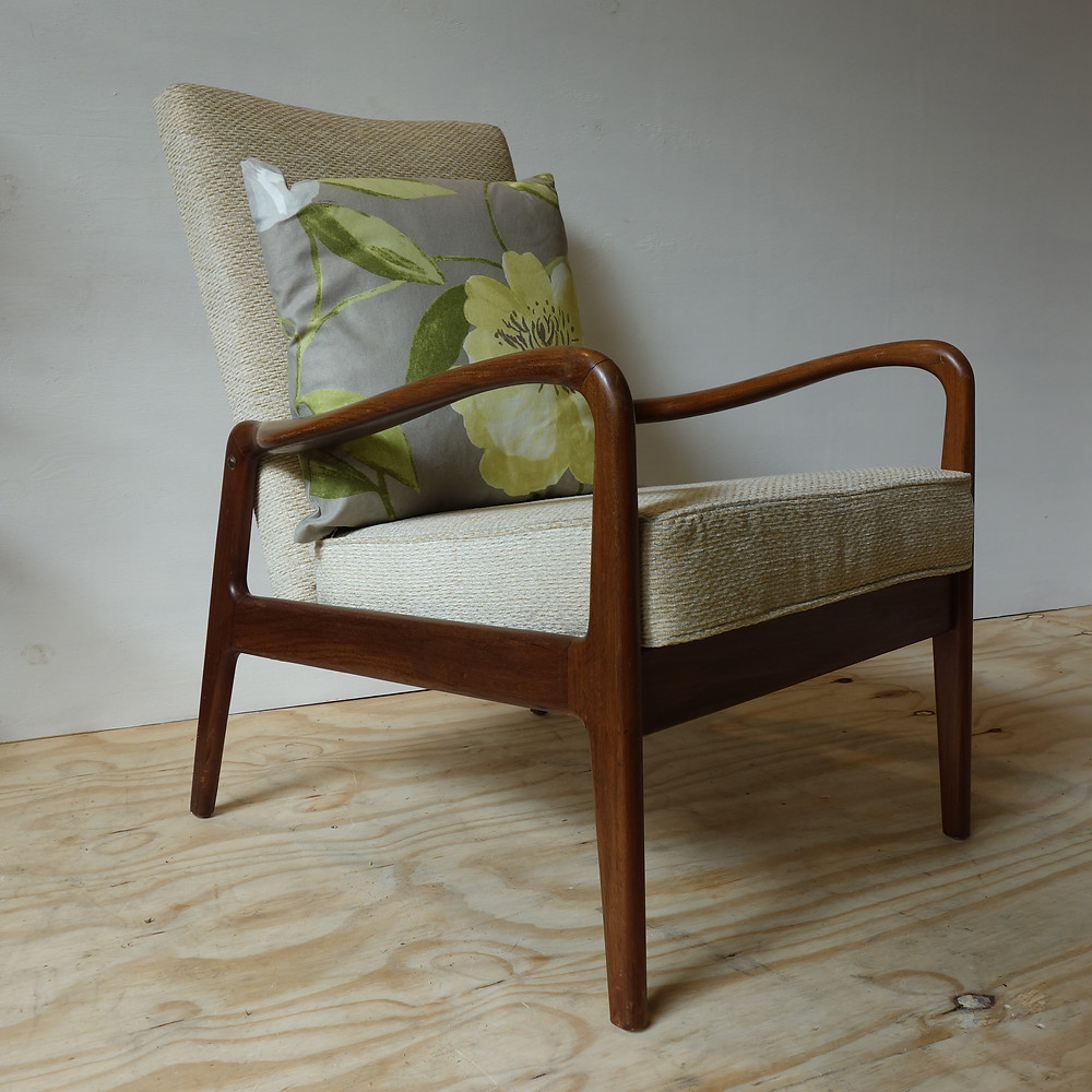 mid century, rosewood, greaves and thomas, 1970's, retro, vintage, iconic design, reupholstered, repair, english designer, fashion, hardwood, worldwide shipping, new stock, mid century, eclectic trading company, boho, unique, etc, chair, danish, danish vintage, cushions, new upholstery,